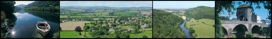 Wye Valley | Granton Coach House towards Brecon Beacons | View from Symonds Yat | Monmouth